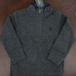 Ralph Lauren 1/2 Zip Gray Pullover Sweater 2t NEW